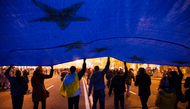 Ukraine Protests: A View from the Frontline