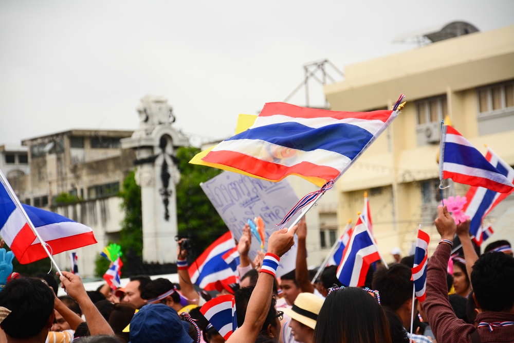 Thai Anti-Government Protesters in Bangkok. Copyright © Shutterstock. All Rights Reserved