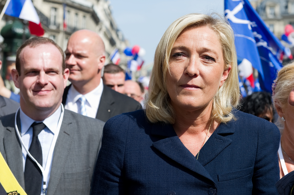 French National Front leader Marine le Pen. Copyright © Shutterstock: All Rights Reserved