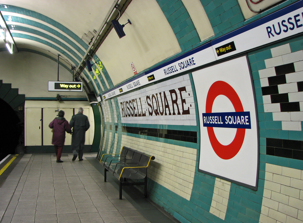 On July 7, 2005 a bomb exploded in a train en route to this station in London. Copyright © Shutterstock: All Rights Reserved