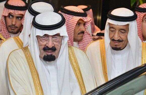 Late King Abdullah and King Salman / Flickr
