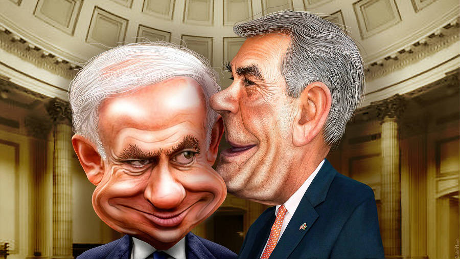 Binyamin Netanyahu and John Boehner / Flickr