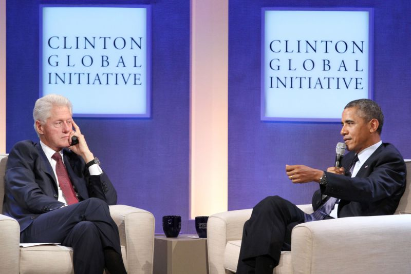 Bill Clinton and Barack Obama © Shutterstock