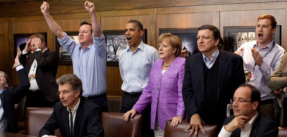 David Cameron, Barack Obama, Angela Merkel and Francois Hollande
