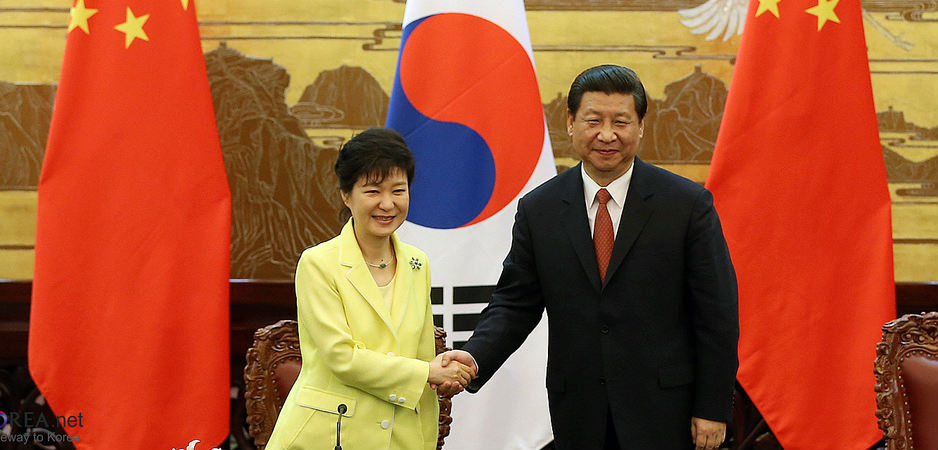 Park Geun-hye and Xi Jinping