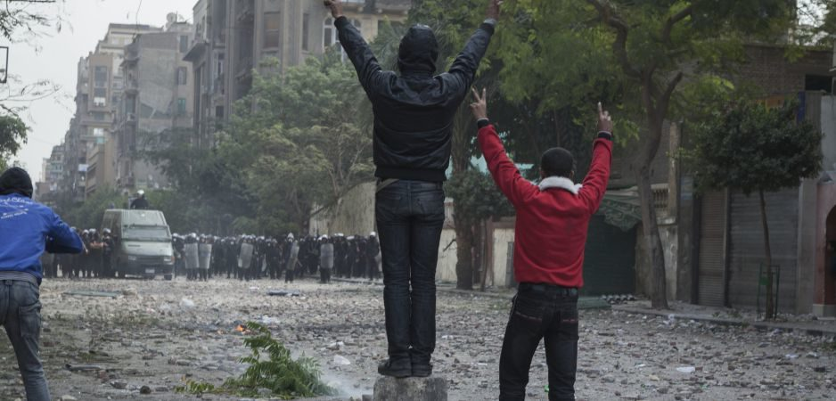 Egyptians protest in November 2011