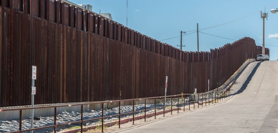 u s mexico border fence See the us-mexico border wall prototypes under inspection by us president  donald trump in san diego, california.