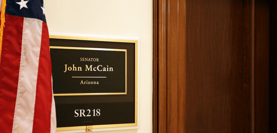 John McCain maverick, John McCain honored, Trump McCain captured, John McCain Iraq, McCain legacy, US politics today, Alexandria Ocasio-Cortez, Ayanna Pressley, McCain pro-life, Trump White House news