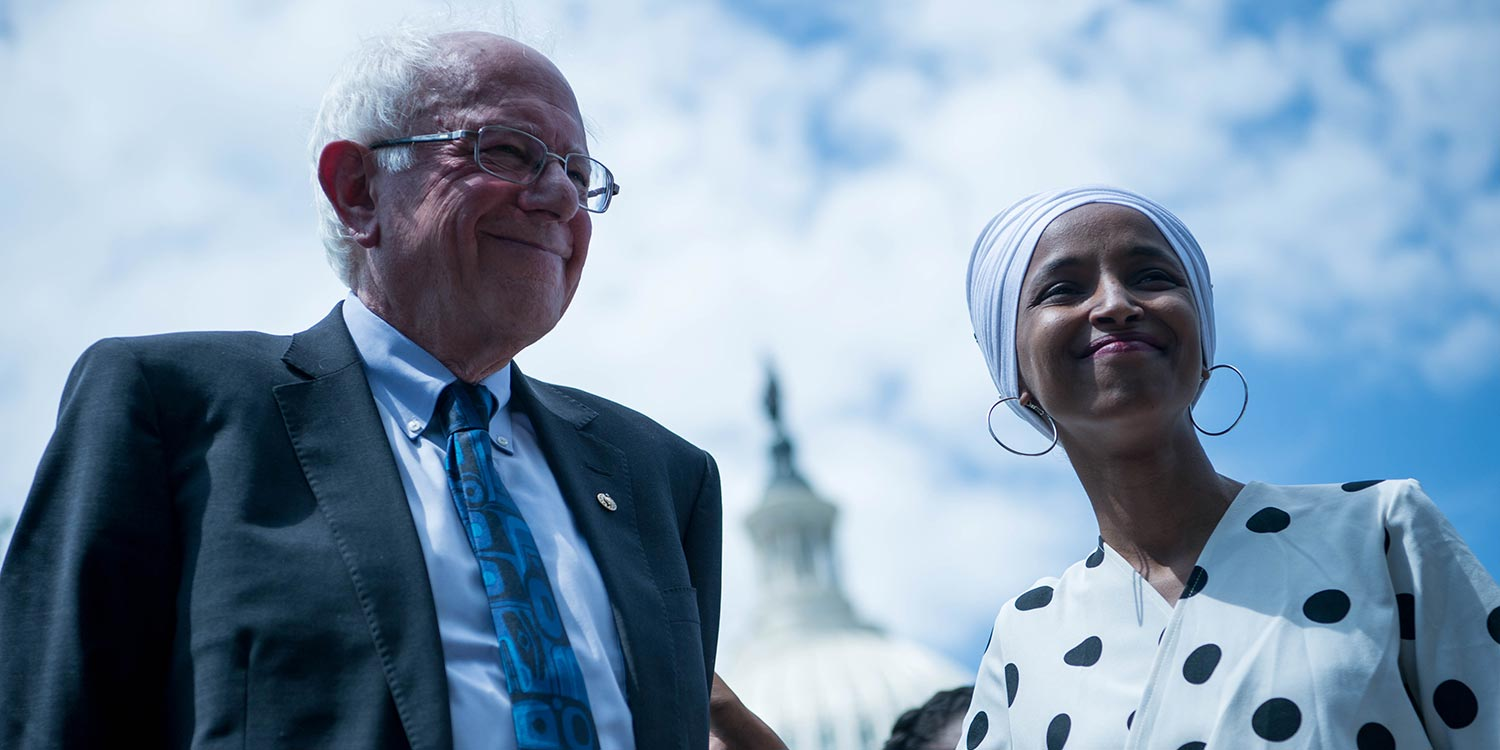 Ilhan Omar, Bernie Sanders news, news on Bernie Sanders, Democratic socialist, Democrats, Democratic Party, Joe Biden, Biden Trump, Republican Party, Peter Isackson
