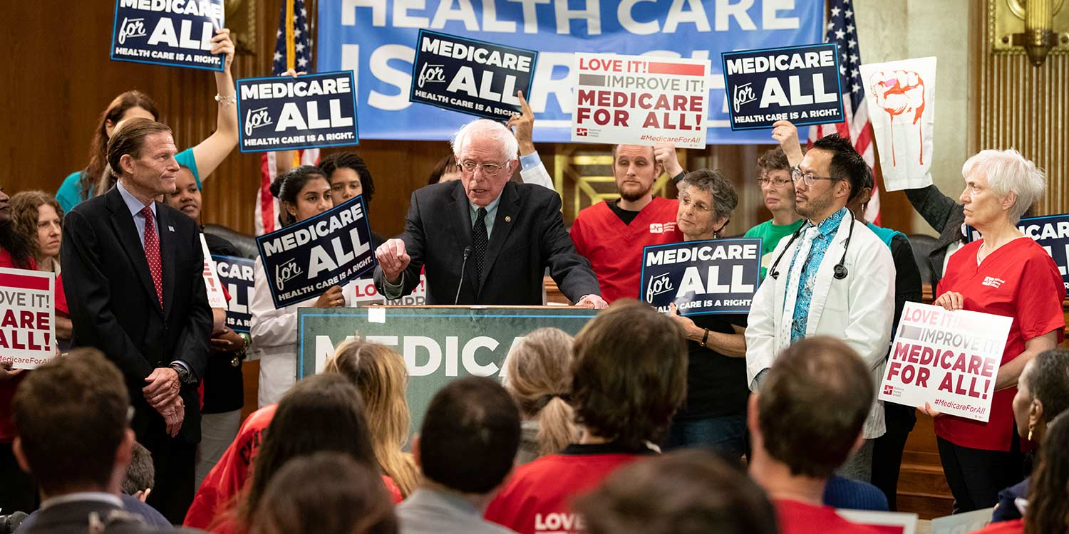 Medicare for All, Bernie Sanders news, news on Bernie Sanders, Democratic socialist, Democrats, Democratic Party, Joe Biden, Biden Trump, Republican Party, Peter Isackson
