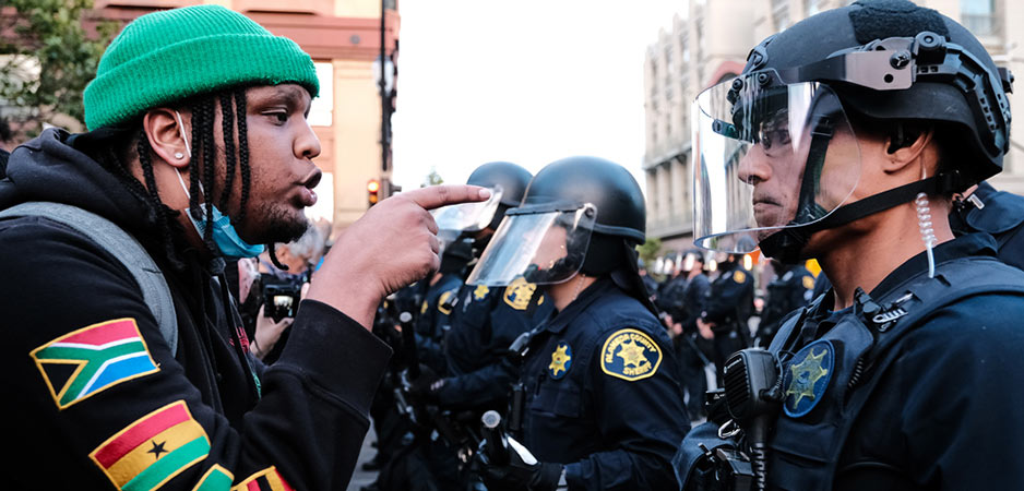 Police defunding, defunding police in America, racism in America, police funding, anti-racism protests, racism in USA, George Floyd protests, US news, American news, Larry Beck