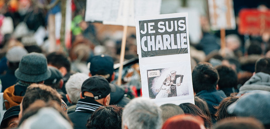 Peter Isackson, France Charlie Hebdo murder, France beheading, France teacher beheading, France freedom of expression, Emmanuel Macron news, Emmanuel Macron Islamophobia, Charlie Hebdo cartoons, Charlie Hebdo attack