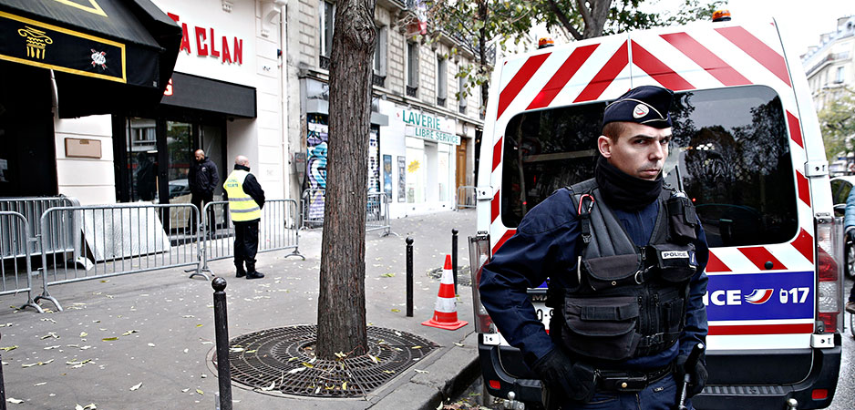 Peter Isackson Daily Devil's Dictionary, Michel Zecler France, France global security law, Emmanuel Macron authoritarianism, police brutality France, France Islamophobia, Emmanuel Macron right-wing shift, France domestic security news, France police law protests, Macron universal liberal values